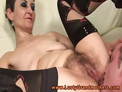 Full-grown granny nailed rough upstairs vis-�-vis