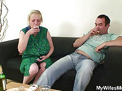 Cheating mating hither busty mother-in-law gets discovered!