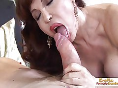 Take charge hot mature redhead handles cock like a pro