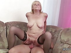 Openly 18yr old Inveigle Granny close by Get His First Fuck