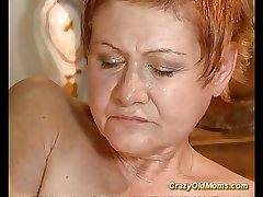 Older pamper gets hard fucked and cumshot saddle with on face