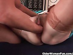 Slutty Grandma Gets Fisted Up ahead She Gets A Facial