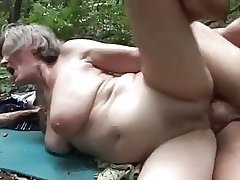 horny granny fucked at the end of one's tether a woodcutter