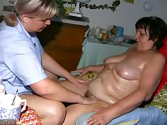 OldNanny Fat granny, hairy pussy added to young unreserved with big special