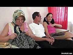 Granny FFM threesome