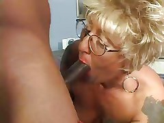 Tattooed Granny  Blonde fucks Bbc