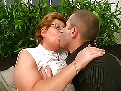 Hungarian Glasses-BBW-Granny fucked unconnected with Young Challenge