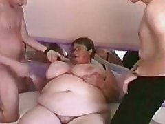 German fat granny in all directions 2 guys