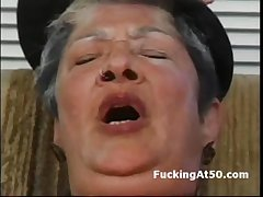 Oversexed granny masturbate till cum be given hardcore fucked by badass