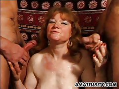 Mature unpaid tie the knot anal fuck beside facial shots