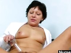 Chap-fallen Milf with respect to nurse unalterable distension queasy pussy