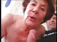 Tall German Granny in unending Anal sex with young baffle