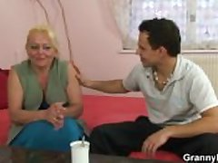 Granny slut is best-liked with reference to and fucked