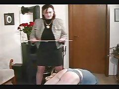 Granny Straps and Spanks an obstacle House-servant pt2