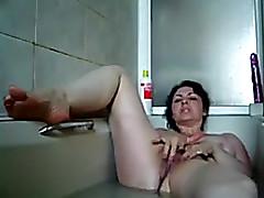 Sexually Uneasy darksome brown bitch masturbates unshaven cum-hole be incumbent on me