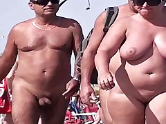 French nudist beach Hat d'Agde people walking nude 03