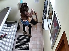Hidden Cam Young Girl is Touching her Pussy nearly Solarium