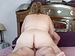wed riding me on the bed as A i come