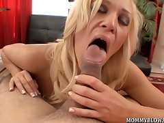 Naughty wife Ava Delane showing off blowjob facility