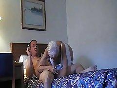 Granny sucks coupled with fucks