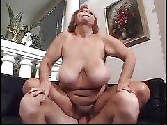 Hairy Redhead BBW Titted Granny Mathilda