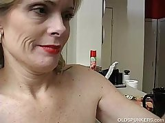 Super erotic older lady is as a result horny she has to masturbate