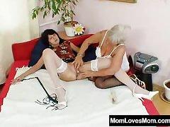 Furry gran licks hot mamma in butch affectation