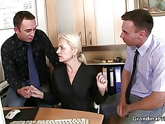 Mature swallows two cocks be advisable for work