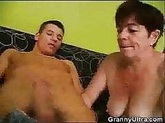 Granny Gets Horny Increased by Starts Sucking Cock