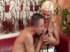 Old bean Enjoying A Hairy MILF Moreover Gets Rimmed