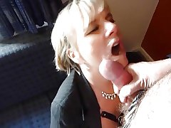 Granny Jasmine Gives A Blowjob In A Hostelry