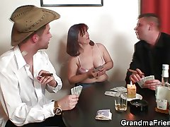 Lasting 3some far oldie explore strip poker