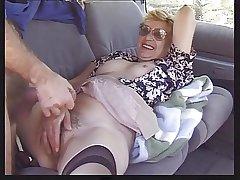 Granny in Motor vehicle