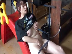 Nice mature doll liking masturbation onto get under one's staircase
