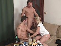 Tits chaps penetrate her elderly tunnels