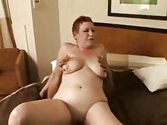 redhead granny streetwalker making out