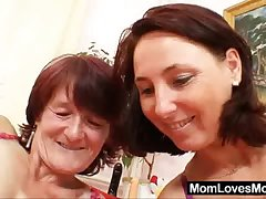 Victorian grandma toyed by busty mature auntie