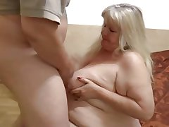 Fatty granny with tubbiness body & guy
