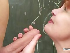 German Mom teach adolescents how team a few fuck hardcore without condom