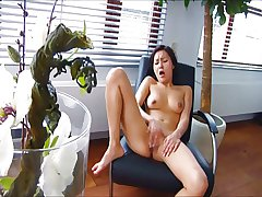 Asian latitudinarian orgasms beside the brush chair