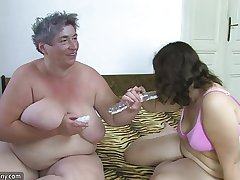 OldNanny Obese gentlefolk masturbate with a toy