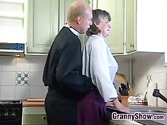Grandma Sucking And Shacking up Round The Scullery