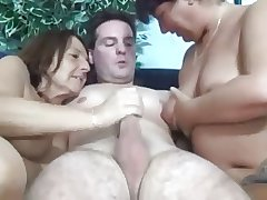 Two Sexy Kinky Matures Skylark with Cock