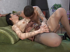 Elsa added to Lucas pantyhose mammy more action