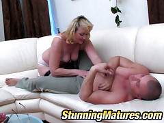 Emilia and Nicholas pretty mom on touching action