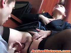 Lillian and Lewis red hot mature action