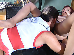 Viola coupled with Govard mature pantyhose action