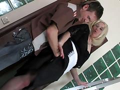 Elisabeth and Rolf pretty mom on video