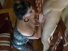 Stephanie and Gerhard leggy mom on videotape