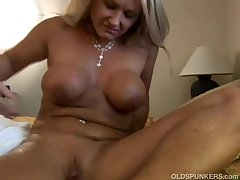 Exciting of age blonde Roxy loves relative to fuck younger guys